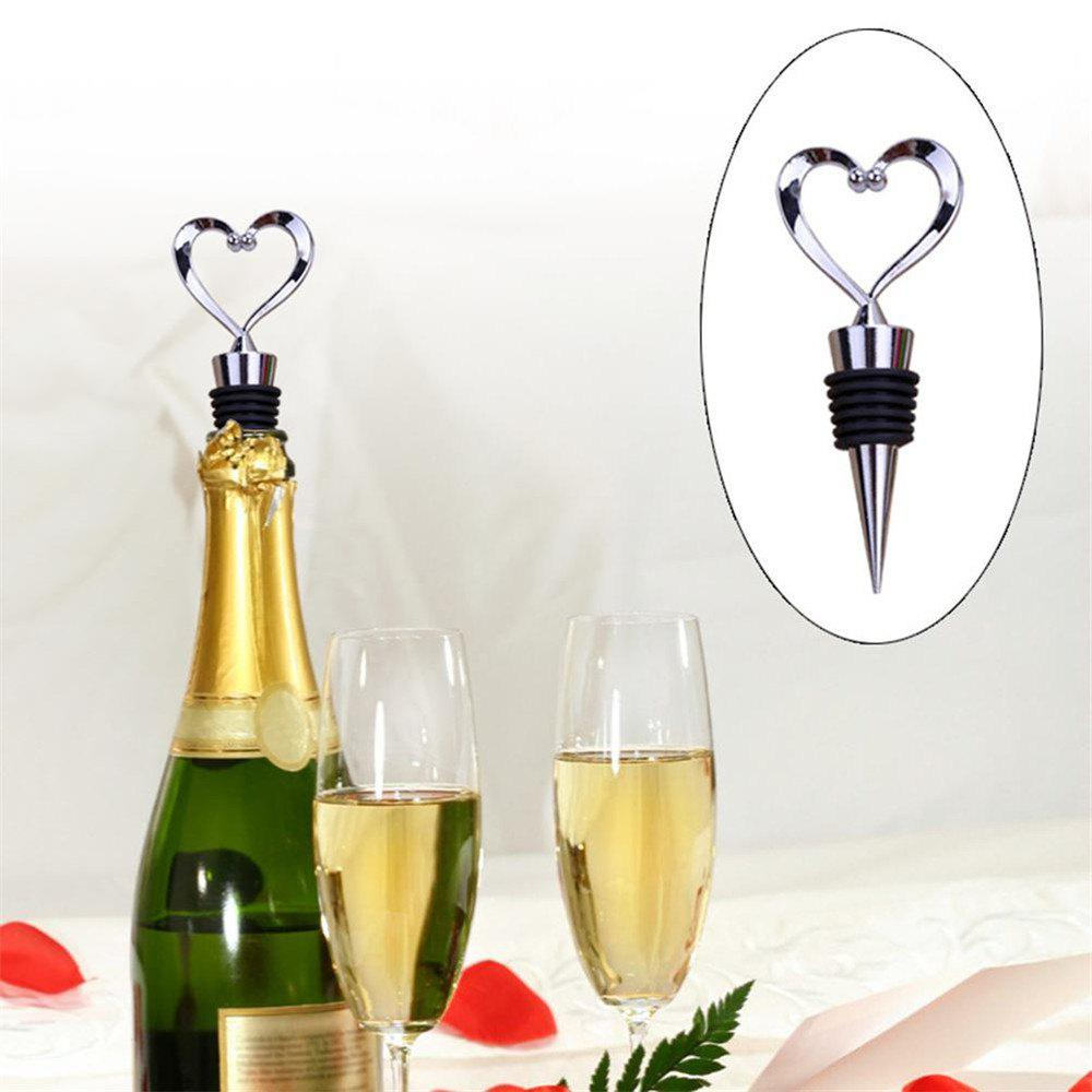Discount High Quality Zinc Alloy Love Shape Wine Cork Champagne Corkscrew Wedding Gift Bartender Bar Tools