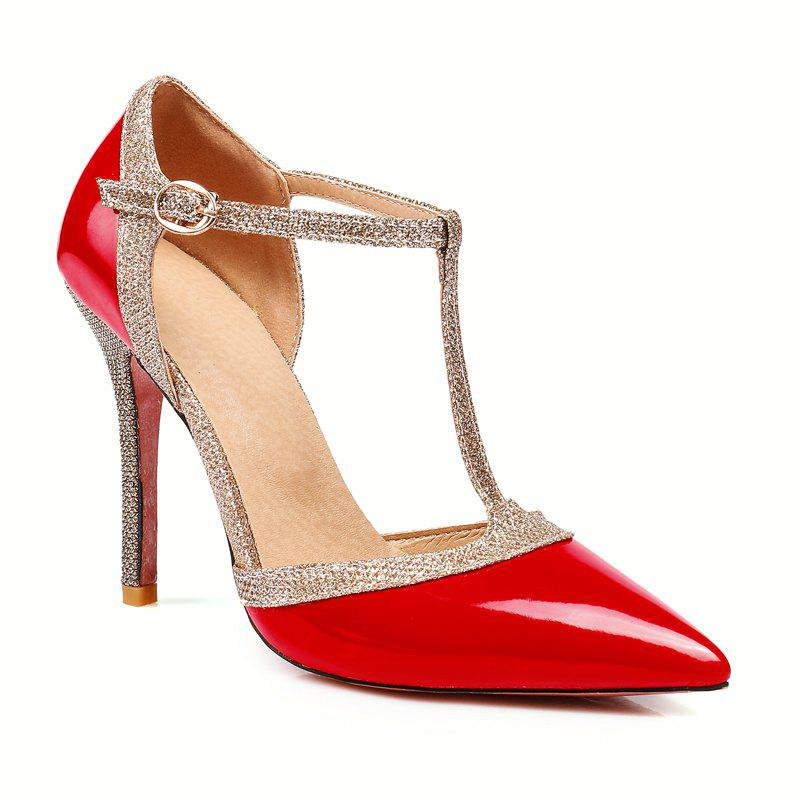 Unique Sexy High Heels and Pointed A word buckle Slip-On Ladies Shoes