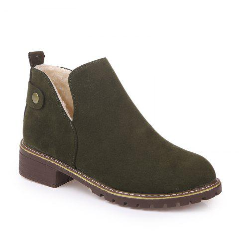 Trendy British Style Outdoor Faux Suede Martin Boots