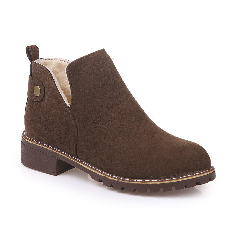 Unique British Style Outdoor Faux Suede Martin Boots