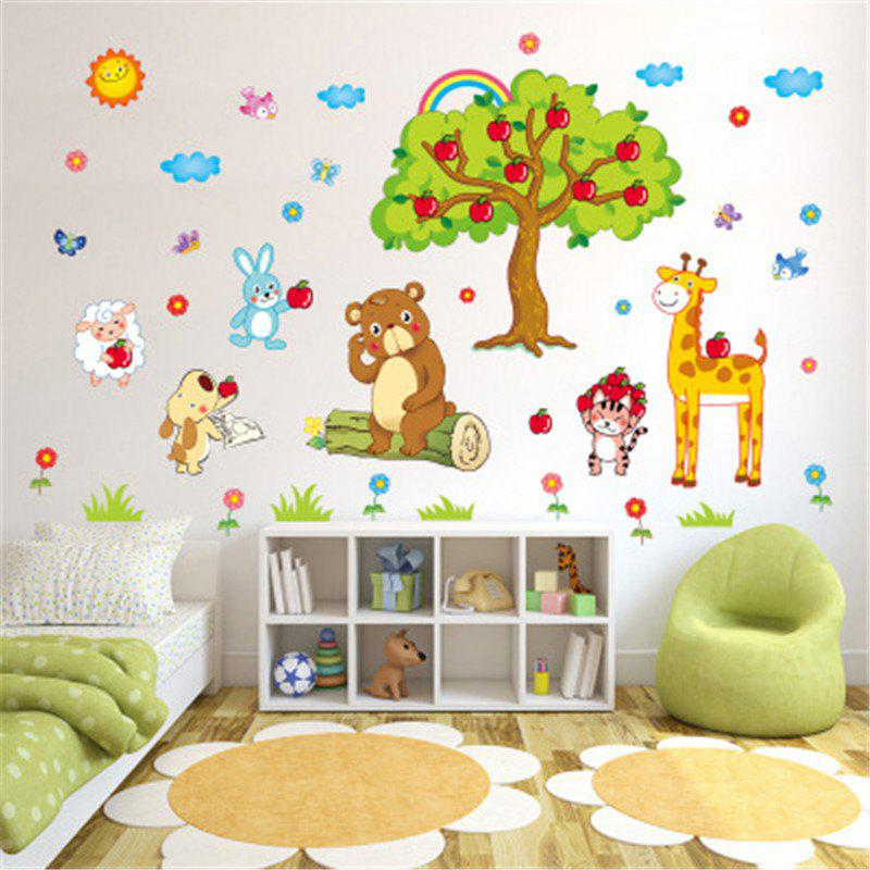 2019 new style cute bear remover decorative wall stickers   rosegal
