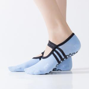 Women Breathable Pilates Yoga Non Slip Grip Cotton Ballet Dance Sport Massage Ankle Socks -
