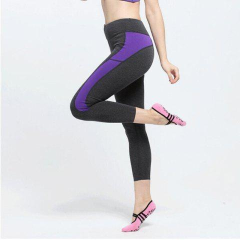 Chic Women Breathable Pilates Yoga Non Slip Grip Cotton Ballet Dance Sport Massage Ankle Socks