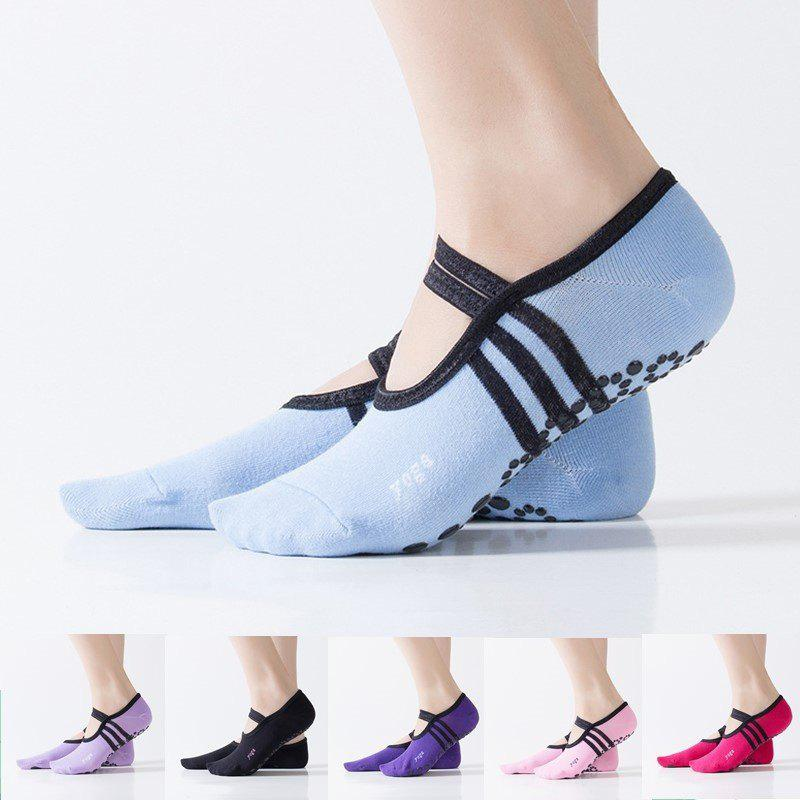 Shop Women Breathable Pilates Yoga Non Slip Grip Cotton Ballet Dance Sport Massage Ankle Socks