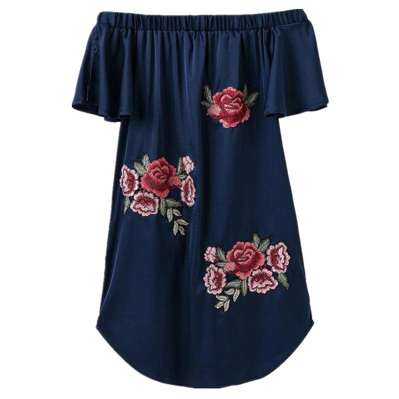 Online Cloth Embroidery Strapless Dress