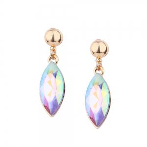 Multi-color Alloy High-grade Rhinestone Collar Earrings Set -