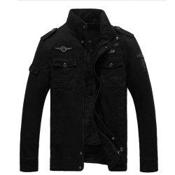 Winter Men'S Add Wool Plus Size Jacket Pure Cotton Casual Coat -