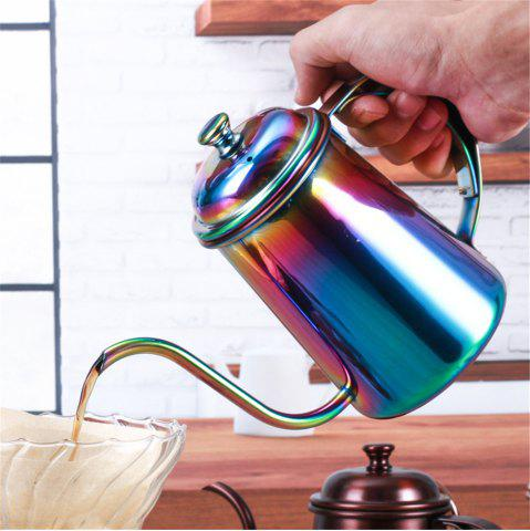 Fancy 650ML Colorful Stainless Steel Coffee Pot Long Mouth Coffee Pot Teapot Gooseneck Spout Kettle Drip Coffee Kettle