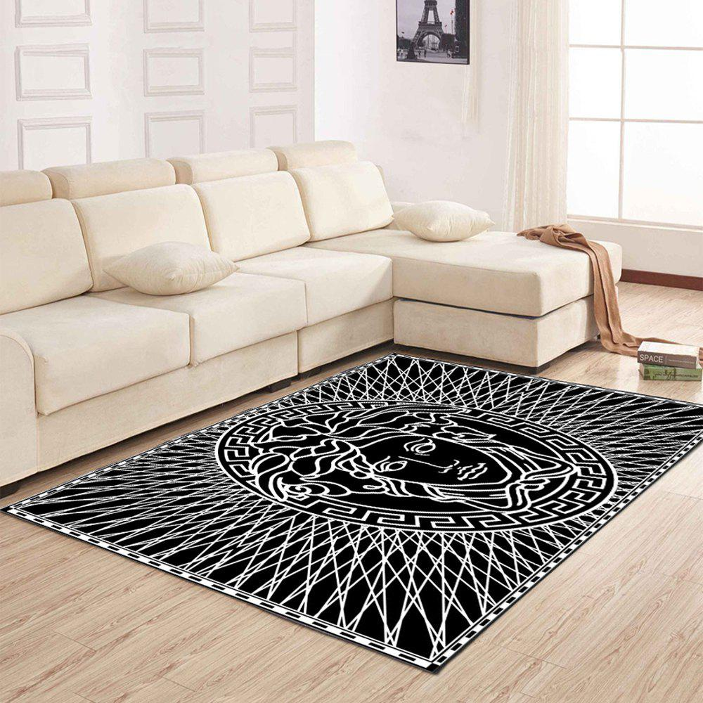 458% OFF] Living Room Floor Mat Modern Unique Character Head Printed ...