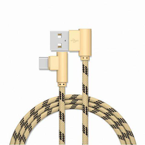 Buy 2M Type-C Cable Charge for Samsung S8 Plus Xiaomi 90 Degree for Oneplus 5t Huawei