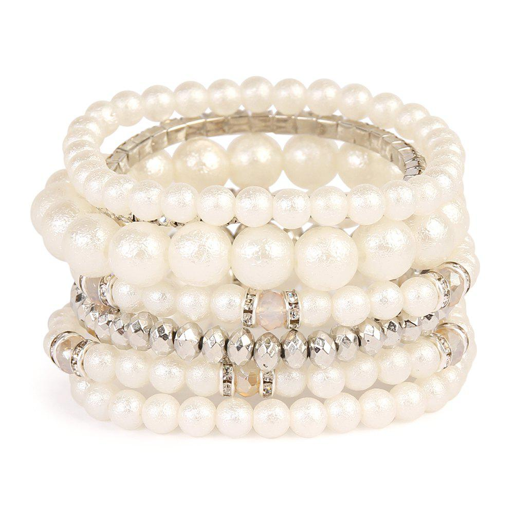 refined Elastic multi layer beaded pearl jewelry