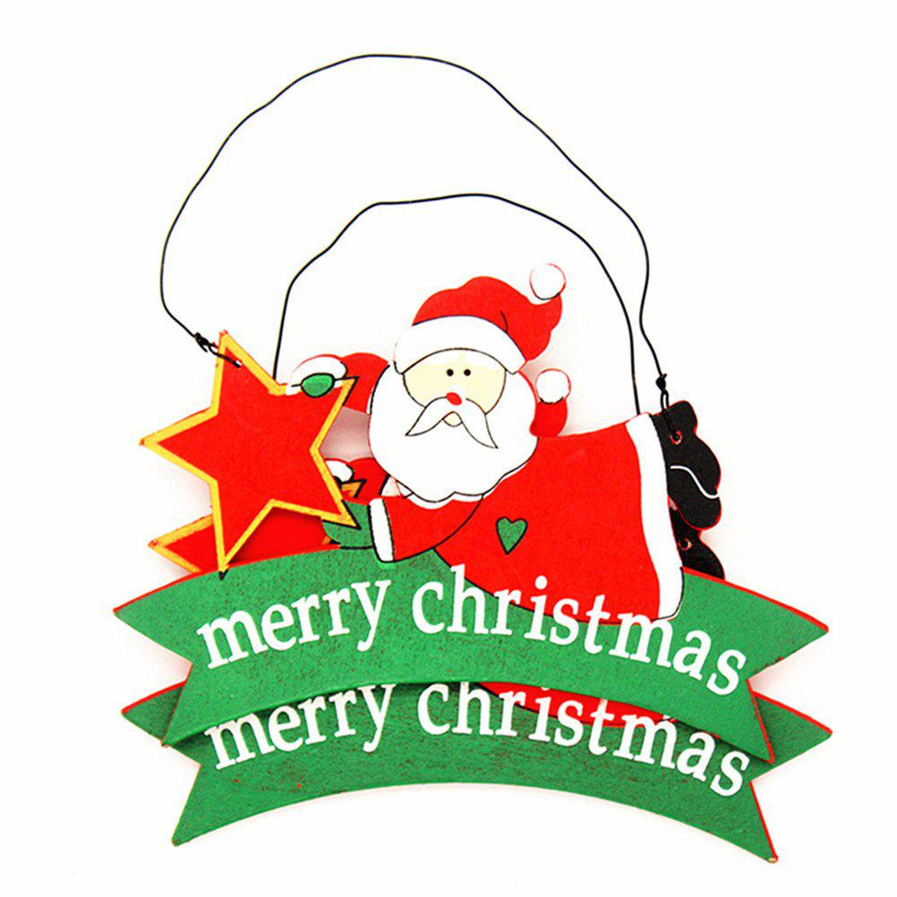 New DIY Nordic Wind Christmas Ornament Santa Claus Pendant 2PCS
