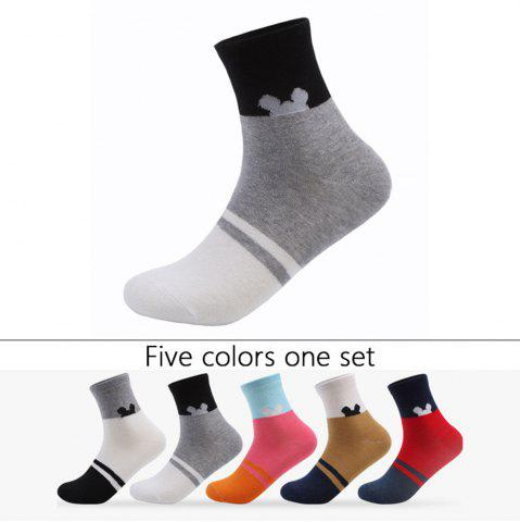 Outfit Spell Color Elastic Knitting Socks B201638 - 5 Pairs