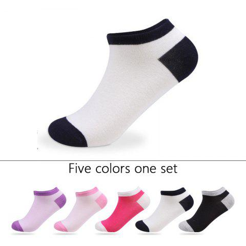 Unique Spell Color Elastic Knitting Socks B1654 - 5 Pairs