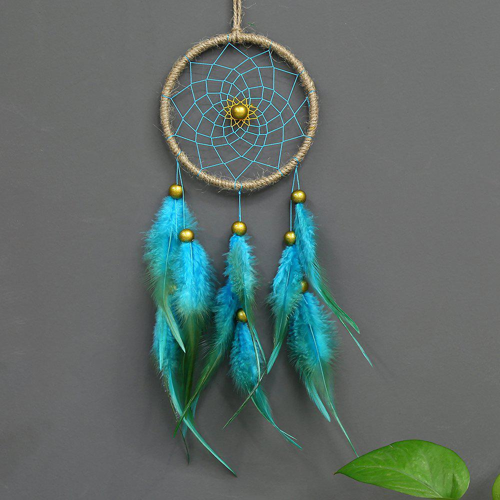 Trendy Antique Enchanted Forest Dreamcatcher Gift Handmade Dream Catcher Net with Feathers Wall Hanging Decoration Ornament