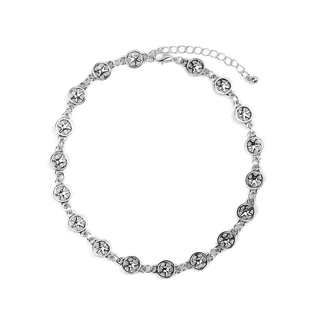 b5e21e6c21 Chic New Design Choker Necklace Punk Star Metal Silver Antic Artilady  Necklaces for Women Party Jewelry