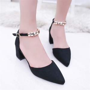 Thick And Pointed Sandals -