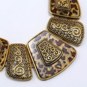 Vintage Choker Set Resin Pendant & Necklace Big Boho Necklaces Этнические чешские ювелирные изделия Tribal Gold Bijoux -