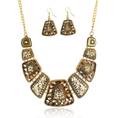 Vintage Choker Set Resin Pendant & Necklace Big Boho Necklaces Этнические чешские ювелирные изделия Tribal Gold Bijoux