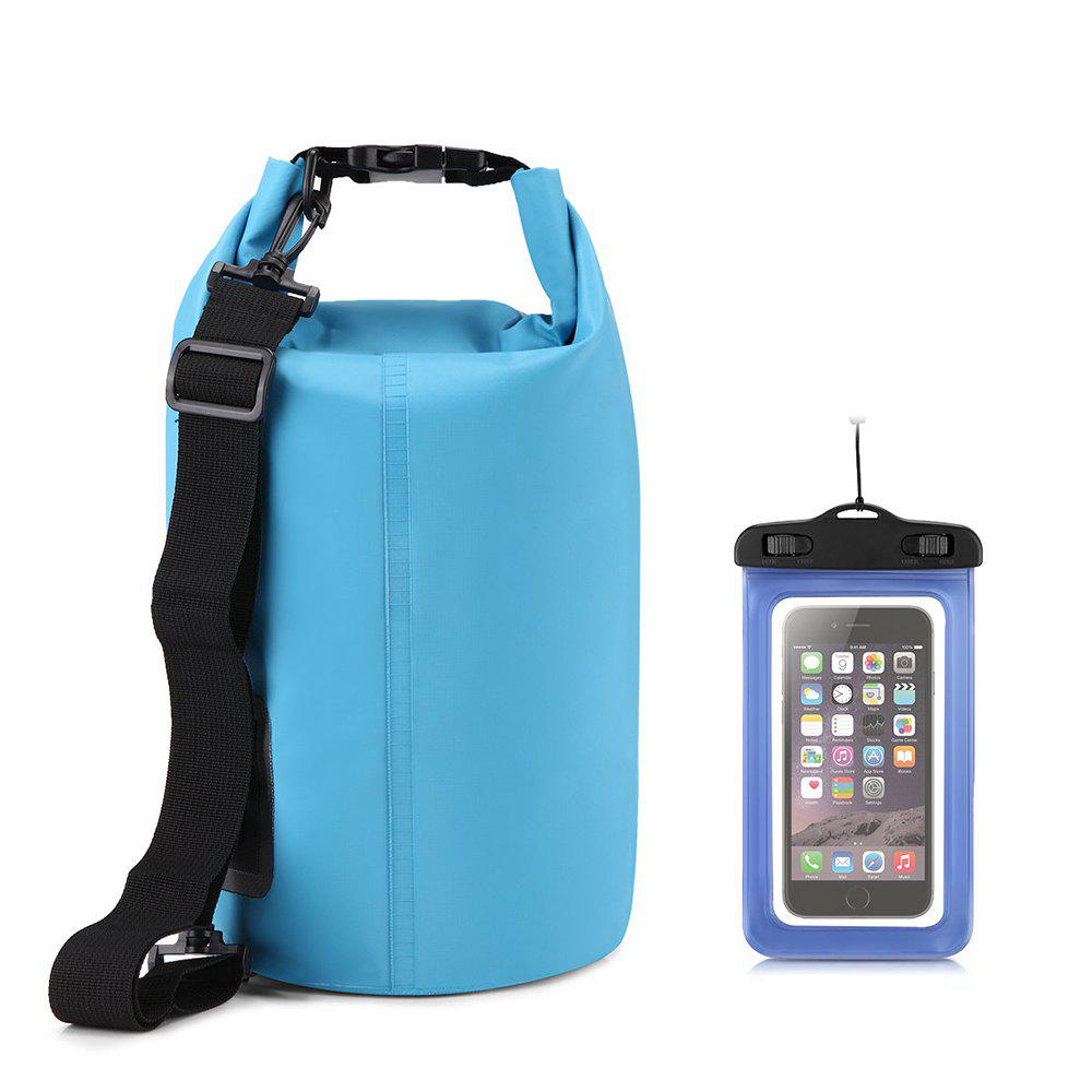 Discount 10L Waterproof Gear Storing Dry Bag and Floating Waterproof Phone Case for Swimming Kayaking Rafting Boating Camping