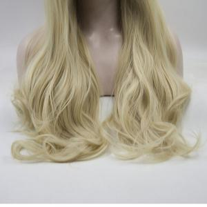 16 - 24 Inch Yellow Long Wavy Style Handmade Heat Resistant Synthetic Hair Wigs for Women -