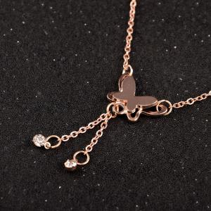 Rose Gold Butterfly Anklet -