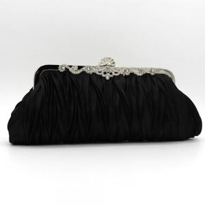 the silk with diamond evening clutch bag -