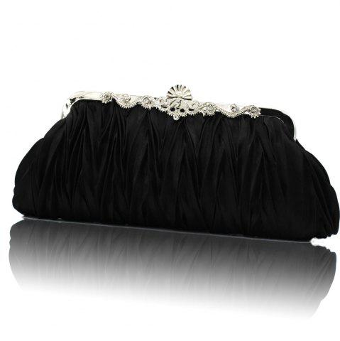 Latest the silk with diamond evening clutch bag