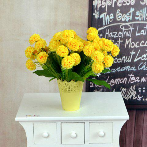 Online Artificial Silk Flowers Bright Color Chrysanthemum Home Decor Simulation Flowers