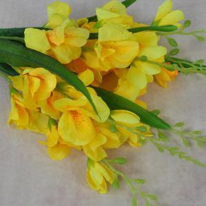 Artificial Flowers Vivid Yellow Gladiolus Bouquet Home Decorative Display -