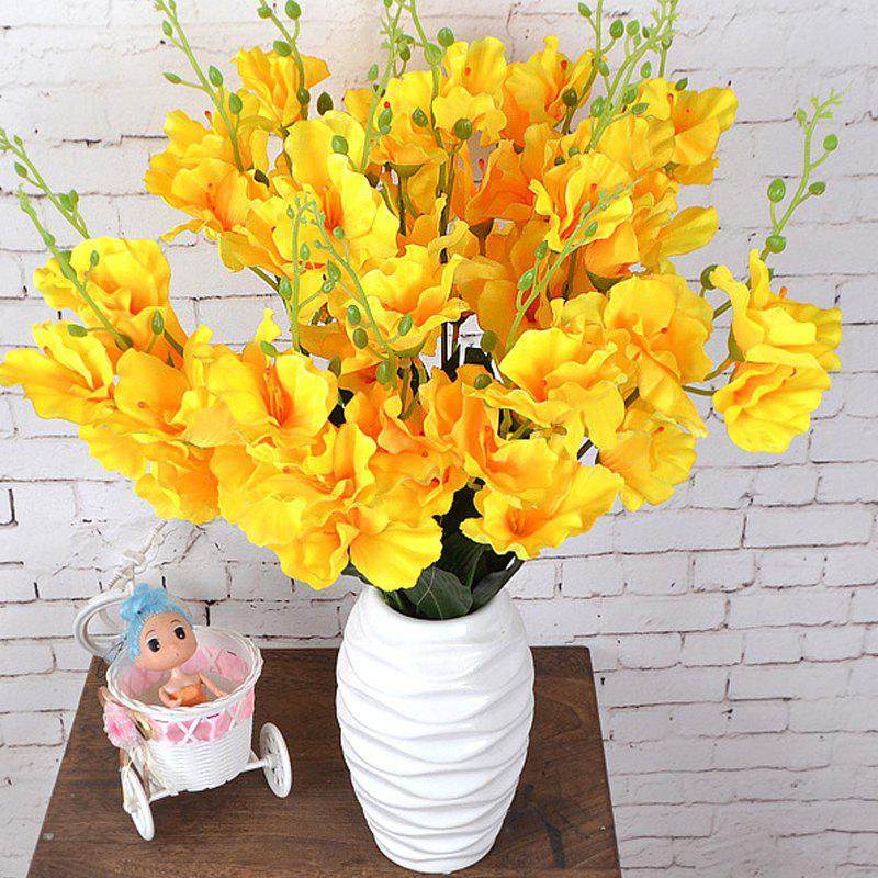 Outfit Artificial Flowers Vivid Yellow Gladiolus Bouquet Home Decorative Display