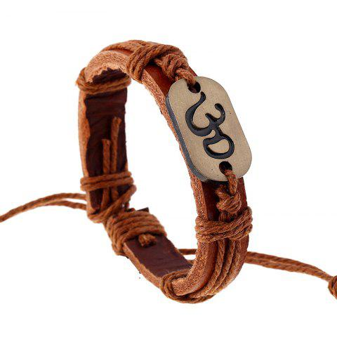 Best Vintage Alloy Leather Bracelet Weaving Rope Bangle Charm Jewelry