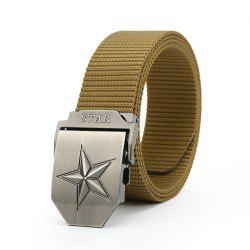 Quick Dry Adjustable Military Tactical Weaving Nylon Waist Belt Pentagram Shape Metal Buckle -