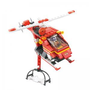 Sluban Building Blocks Educational Kids Toy Fire Helicopter 155 Pieces -