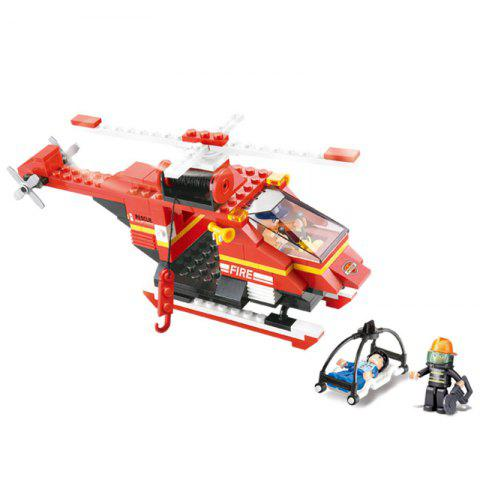 Fancy Sluban Building Blocks Educational Kids Toy Fire Helicopter 155 Pieces