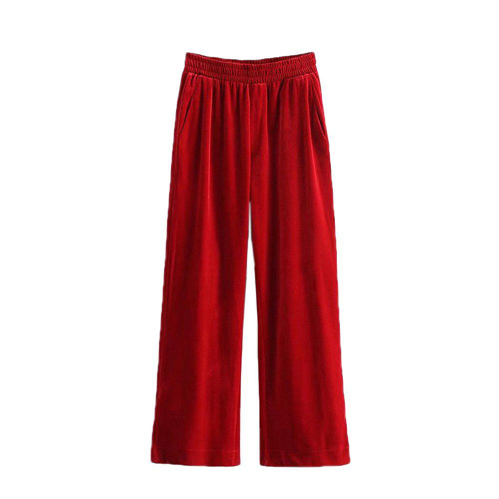 Discount Women'S Fashion Velvet Loose Casual Trousers
