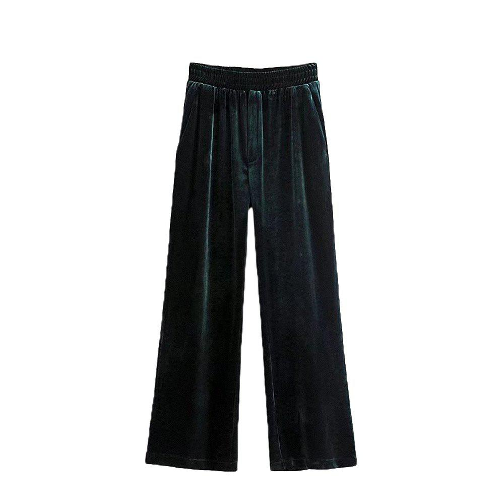 Женская мода Velvet Loose Casual Trousers