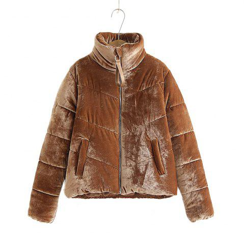 Cheap Women's Velvet Puffer Jacket