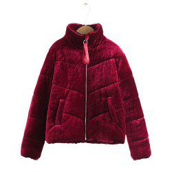Velours Puffer Jacket pour femme -