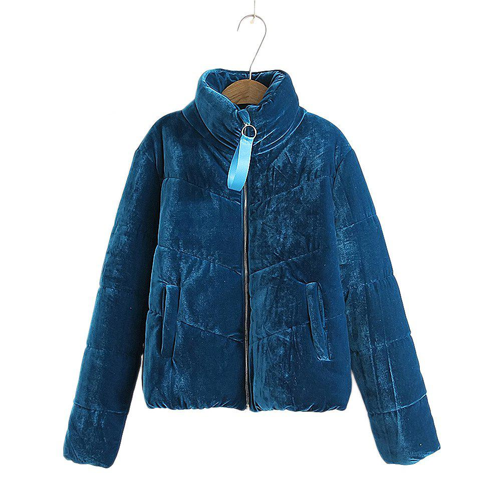 Unique Women's Velvet Puffer Jacket