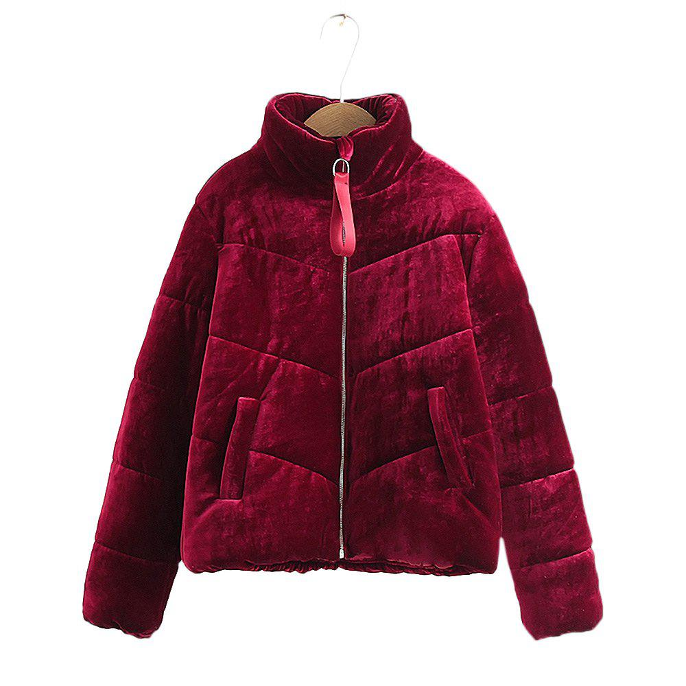 New Women's Velvet Puffer Jacket