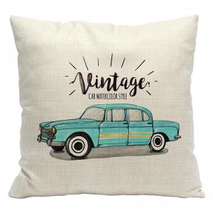 Simple and Stylish Car 3D Printing Cotton Pillowcase Office Sofa Cushion Cushions By The Lumbar -