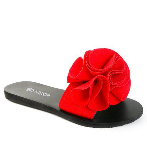 Trendy Slippers with Flat Bottom and Antiskid Flowers