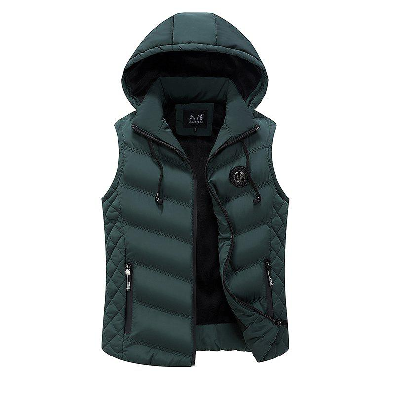 New BYF1710 Men's Vest Jacket Sleeveless Solid Color Hooded Fashion Casual Jacket