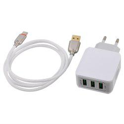 Универсальный 5V 3.1A 3 USB Quick Charge 3.0 Type-C -