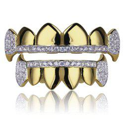 Hip Hop 18K Gold Plated Micro Pave Cubic Zircon Vampire Fangs Зубы Grillz -