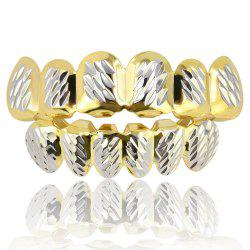 Hip Hop 18K Gold Plated Phi Flowers Зубы Grillz -
