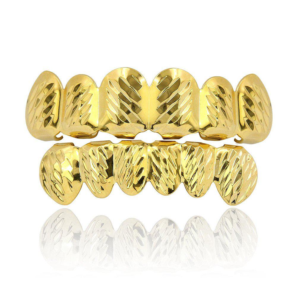 Outfit Hip Hop 18K Gold Plated Phi Flowers Teeth Grillz