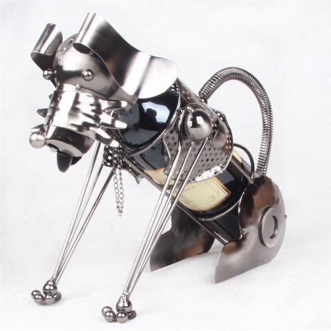 Trendy Creative Fashion Metal Figurine Iron Dog Wine Rack Wine Holder