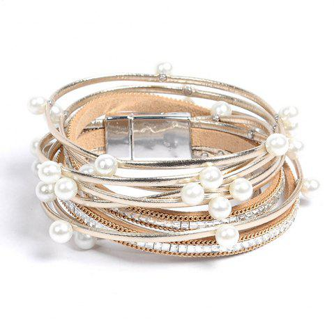beach new steel wrap fine with bangles bracelets fashion crystal slake sparkling jewelry product multilayer gift sandy leather charm women deluxe stainless